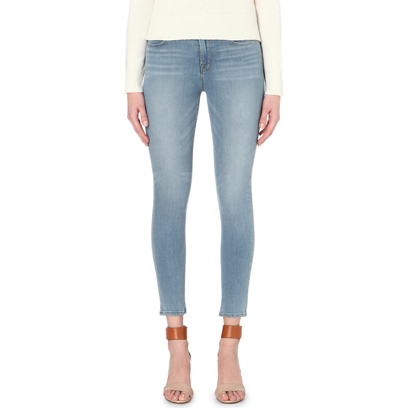 Alana Skinny High Rise Jeans, Women's, Ocean Side - style: skinny leg; pattern: plain; pocket detail: traditional 5 pocket; waist: mid/regular rise; predominant colour: denim; occasions: casual; length: ankle length; fibres: cotton - stretch; jeans detail: whiskering, shading down centre of thigh, washed/faded; texture group: denim; pattern type: fabric; season: s/s 2016; wardrobe: basic