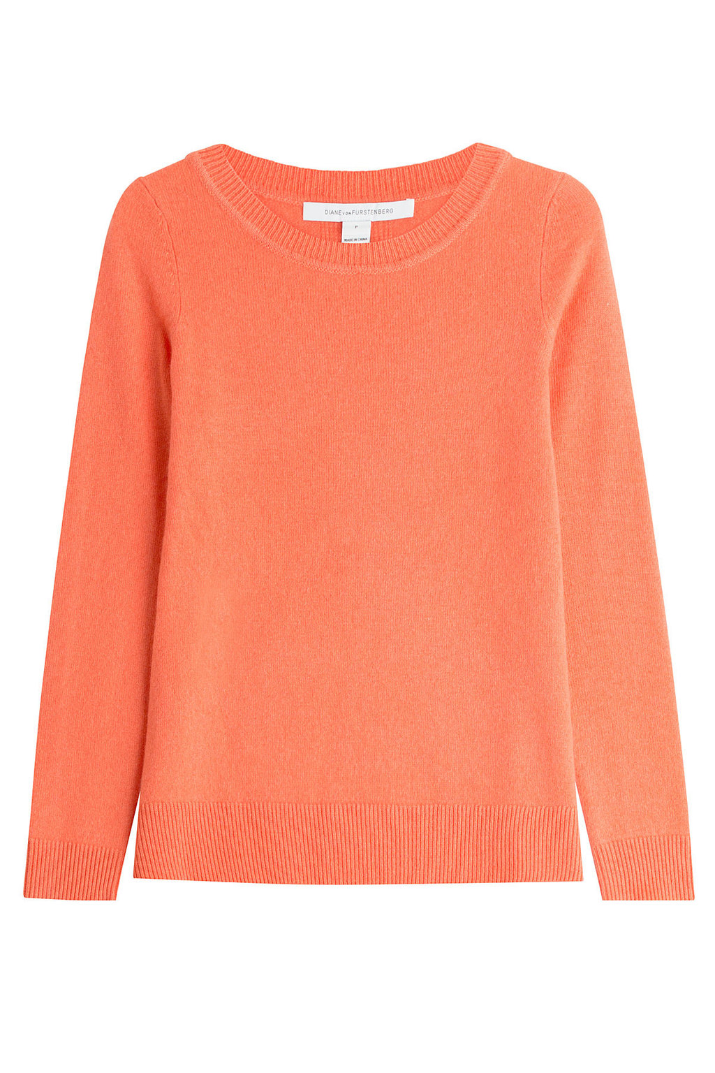 Cashmere Pullover - pattern: plain; style: standard; predominant colour: coral; occasions: casual; length: standard; fit: slim fit; neckline: crew; fibres: cashmere - 100%; sleeve length: long sleeve; sleeve style: standard; texture group: knits/crochet; pattern type: fabric; season: s/s 2016; wardrobe: highlight