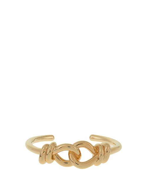 Joining Knot Cuff - predominant colour: gold; occasions: evening, occasion, creative work; style: cuff; size: large/oversized; material: chain/metal; finish: metallic; season: s/s 2016; wardrobe: highlight