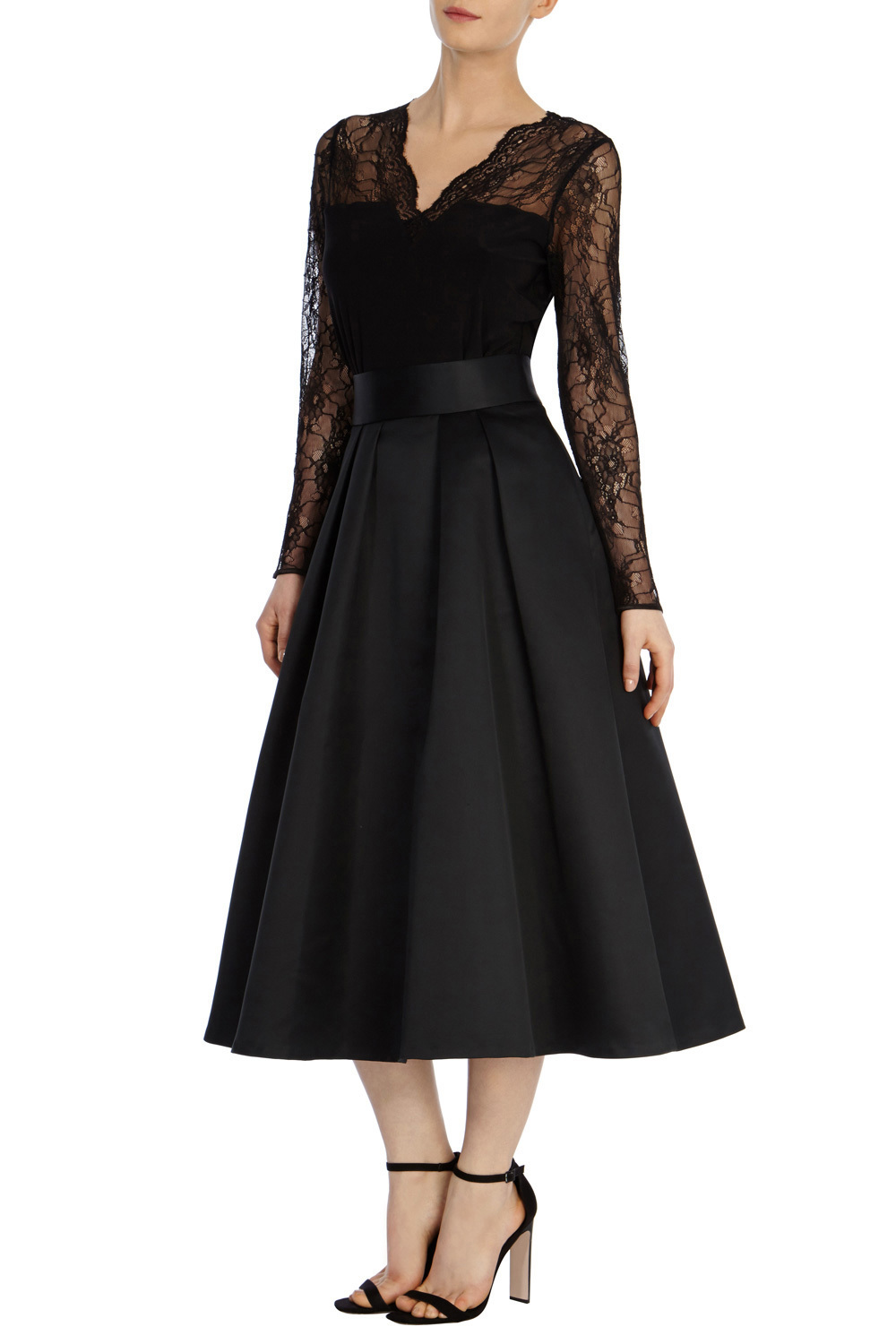 Meslita Skirt - length: calf length; pattern: plain; style: full/prom skirt; fit: loose/voluminous; waist: high rise; predominant colour: black; fibres: silk - mix; occasions: occasion; hip detail: subtle/flattering hip detail; pattern type: fabric; texture group: woven light midweight; season: s/s 2016; wardrobe: event