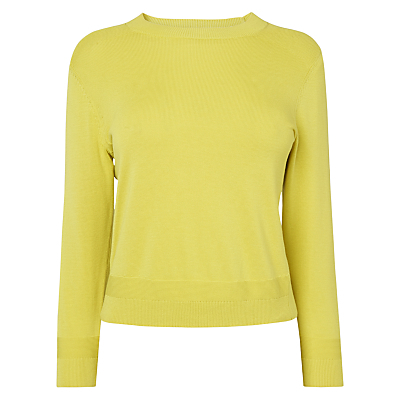 Maisy Knitted Jumper - pattern: plain; style: standard; predominant colour: lime; occasions: casual; length: standard; fibres: silk - mix; fit: standard fit; neckline: crew; sleeve length: long sleeve; sleeve style: standard; texture group: knits/crochet; pattern type: knitted - fine stitch; season: s/s 2016; wardrobe: highlight