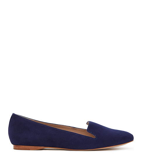 Lillie Suede Suede Flats - predominant colour: navy; occasions: casual; material: suede; heel height: flat; toe: round toe; style: loafers; finish: plain; pattern: plain; season: s/s 2016; wardrobe: basic