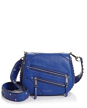 Pyt Small Saddle Bag - predominant colour: royal blue; occasions: casual, creative work; type of pattern: standard; style: saddle; length: across body/long; size: small; material: leather; embellishment: zips; pattern: plain; finish: plain; season: s/s 2016; wardrobe: highlight