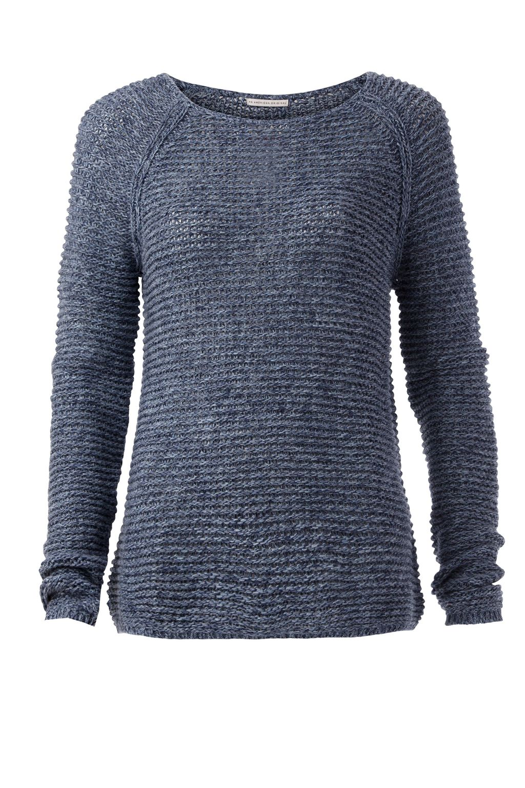Basic Twisted Sweater, Navy - pattern: plain; style: standard; predominant colour: navy; occasions: casual; length: standard; fibres: cotton - 100%; fit: slim fit; neckline: crew; sleeve length: long sleeve; sleeve style: standard; texture group: knits/crochet; pattern type: fabric; season: s/s 2016; wardrobe: basic