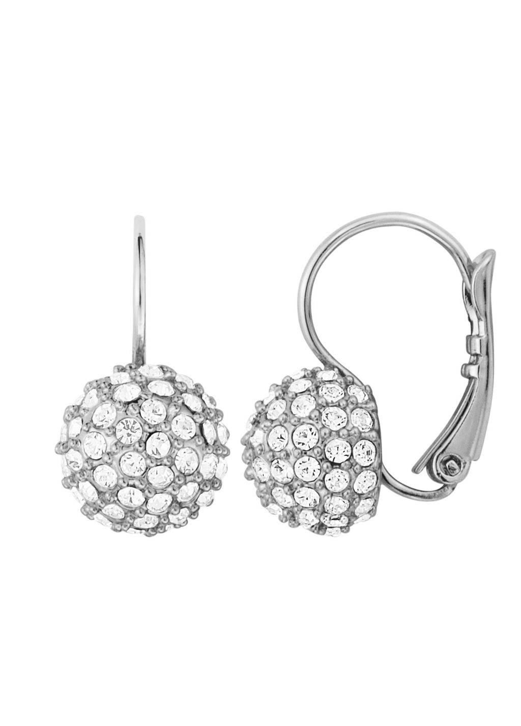 Darling Earpost, N/A - predominant colour: silver; occasions: evening, occasion; style: drop; length: short; size: standard; material: chain/metal; fastening: pierced; finish: metallic; embellishment: crystals/glass; season: s/s 2016
