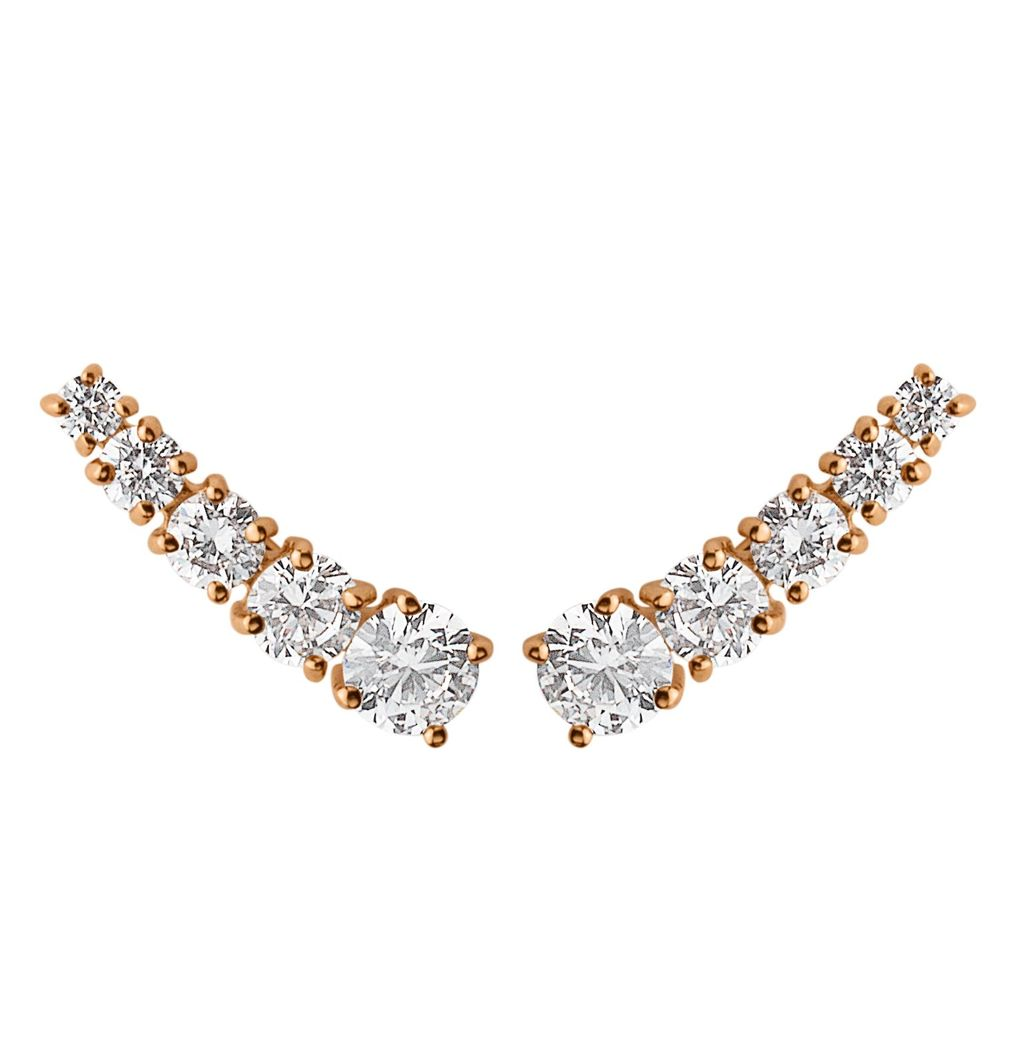Hexa Earpost, N/A - predominant colour: gold; occasions: evening, occasion; length: short; size: small/fine; material: chain/metal; fastening: pierced; finish: metallic; embellishment: crystals/glass; secondary colour: clear; season: s/s 2016; style: ear cuffs; wardrobe: event