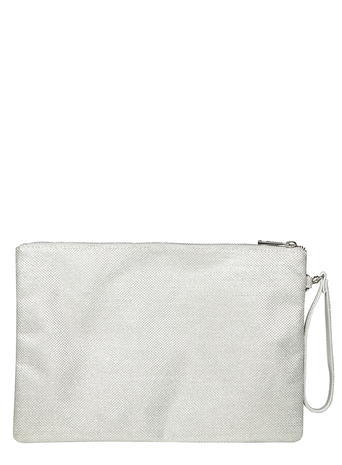 Womens Silver Glitter Wristlet Silver - predominant colour: silver; occasions: evening; type of pattern: light; style: clutch; length: hand carry; size: mini; material: faux leather; embellishment: glitter; pattern: plain; finish: metallic; season: s/s 2016; wardrobe: event