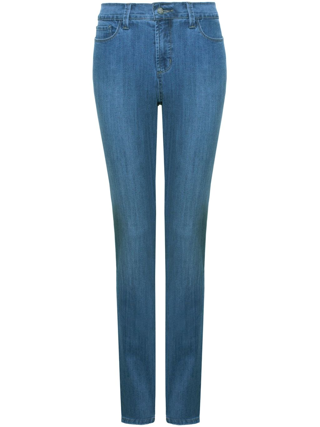 Samantha Slim, Blue - length: standard; pattern: plain; pocket detail: traditional 5 pocket; style: slim leg; waist: mid/regular rise; predominant colour: denim; occasions: casual; fibres: cotton - stretch; texture group: denim; pattern type: fabric; season: s/s 2016; wardrobe: basic