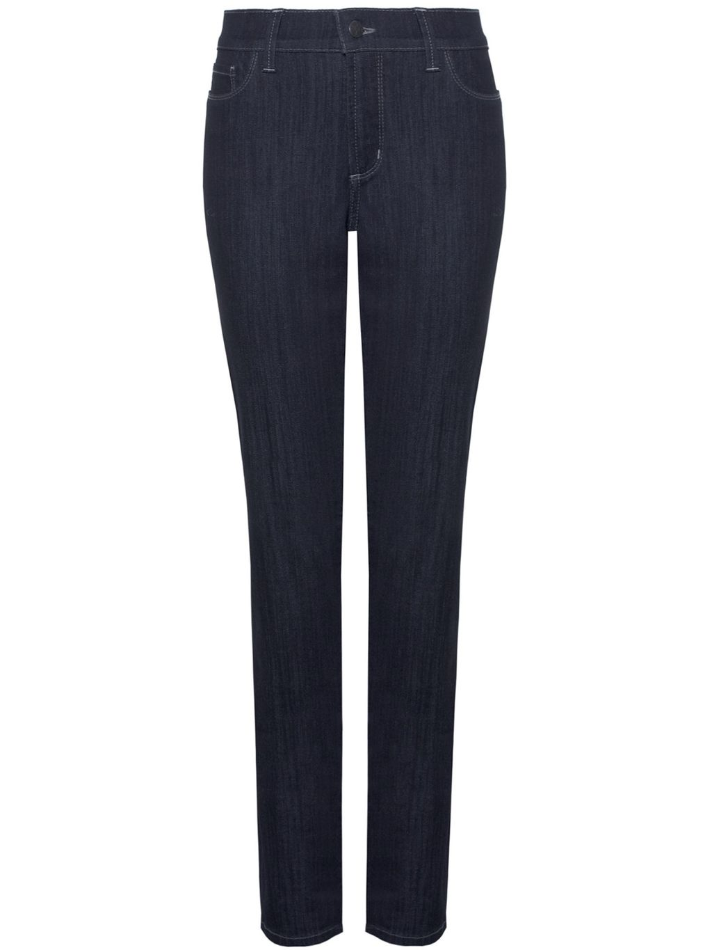 Samantha Slim, Blue - length: standard; pattern: plain; waist: high rise; style: slim leg; predominant colour: navy; occasions: casual; fibres: cotton - stretch; jeans detail: dark wash; texture group: denim; pattern type: fabric; season: s/s 2016; wardrobe: basic