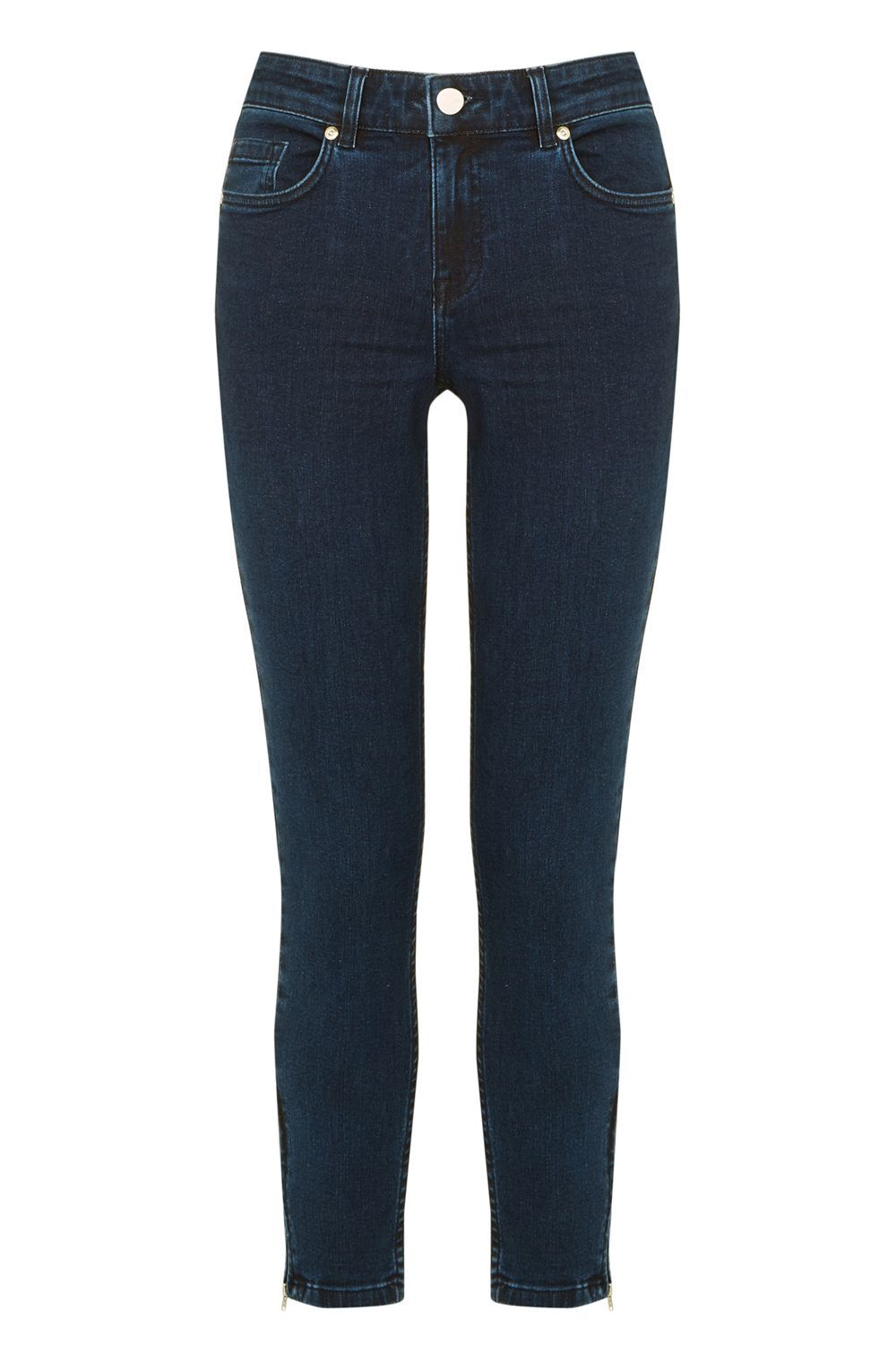 Havannah Isabella Skinny Crop, Denim - style: skinny leg; length: standard; pattern: plain; pocket detail: traditional 5 pocket; waist: mid/regular rise; predominant colour: navy; occasions: casual; fibres: cotton - stretch; jeans detail: dark wash; texture group: denim; pattern type: fabric; season: s/s 2016; wardrobe: basic