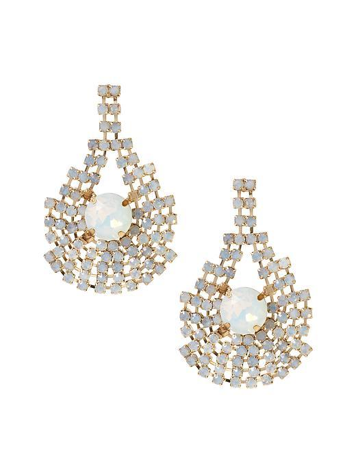Debutante Chandelier Earring Gold - predominant colour: gold; occasions: evening, occasion; style: chandelier; length: mid; size: large/oversized; material: chain/metal; fastening: pierced; finish: plain; embellishment: jewels/stone; season: s/s 2016; wardrobe: event