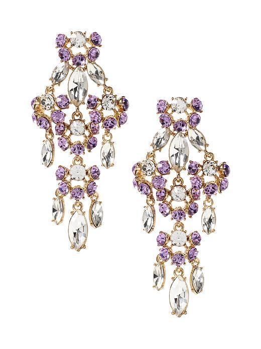 Debutante Teardrop Earring Opal - predominant colour: purple; occasions: evening, occasion; style: chandelier; length: long; size: large/oversized; material: chain/metal; fastening: pierced; finish: plain; embellishment: jewels/stone; multicoloured: multicoloured; season: s/s 2016; wardrobe: event