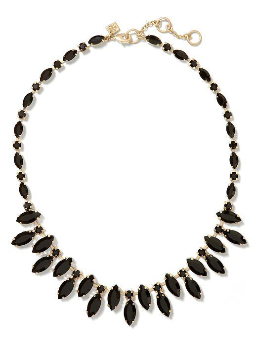 Black Floral Necklace Black - predominant colour: black; occasions: evening, occasion; length: short; size: standard; material: chain/metal; finish: plain; embellishment: jewels/stone; style: bib/statement; season: s/s 2016; wardrobe: event