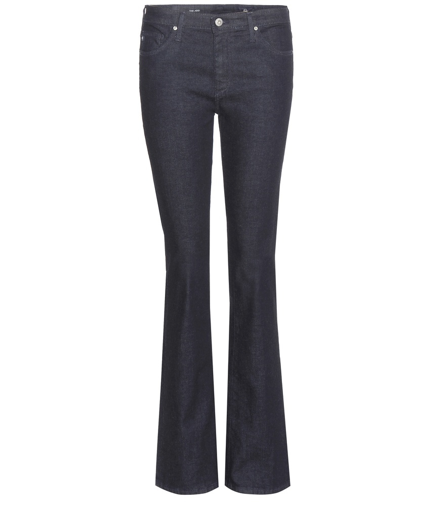 Jodi Flared Jeans - style: flares; length: standard; pattern: plain; pocket detail: traditional 5 pocket; waist: mid/regular rise; predominant colour: navy; occasions: casual; fibres: cotton - mix; jeans detail: dark wash; texture group: denim; pattern type: fabric; season: s/s 2016; wardrobe: basic