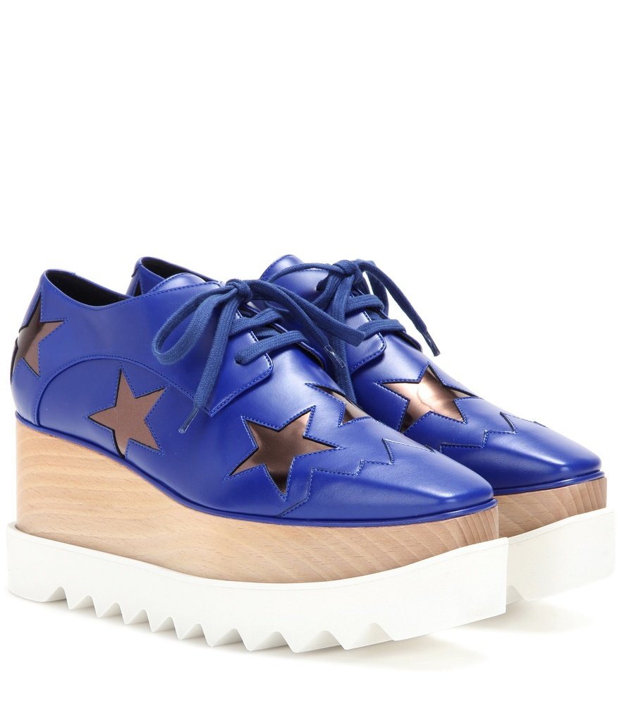 Hackney Platform Derby Shoes - predominant colour: royal blue; occasions: casual, creative work; material: leather; heel height: flat; toe: round toe; style: flatforms; finish: plain; pattern: patterned/print; shoe detail: platform with tread; season: s/s 2016