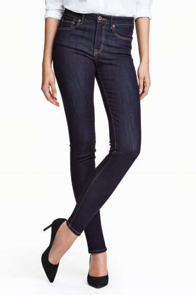 Slim High Superstretch Jeans - style: skinny leg; pattern: plain; pocket detail: traditional 5 pocket; waist: mid/regular rise; predominant colour: denim; occasions: casual, creative work; length: ankle length; fibres: cotton - stretch; jeans detail: dark wash; texture group: denim; pattern type: fabric; season: s/s 2016