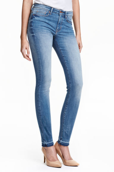 Slim High Superstretch Jeans - style: skinny leg; length: standard; pattern: plain; waist: mid/regular rise; predominant colour: denim; occasions: casual; fibres: cotton - stretch; jeans detail: shading down centre of thigh; texture group: denim; pattern type: fabric; season: s/s 2016; wardrobe: basic