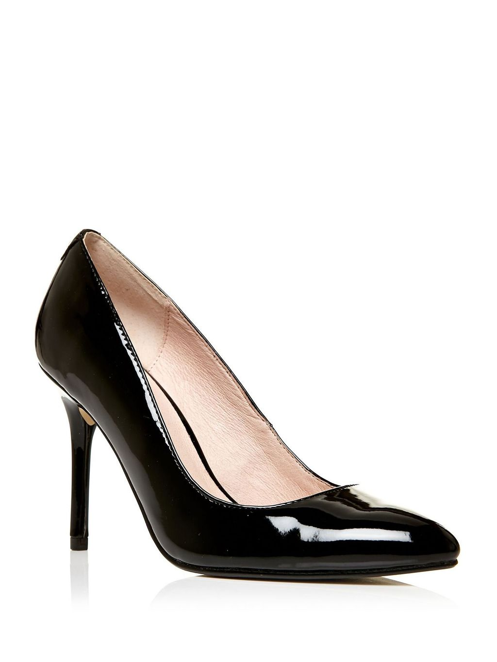 Ceisa High Heel Court Shoes, Black - predominant colour: black; occasions: evening; material: faux leather; heel height: high; heel: stiletto; toe: pointed toe; style: courts; finish: patent; pattern: plain; season: s/s 2016; wardrobe: event