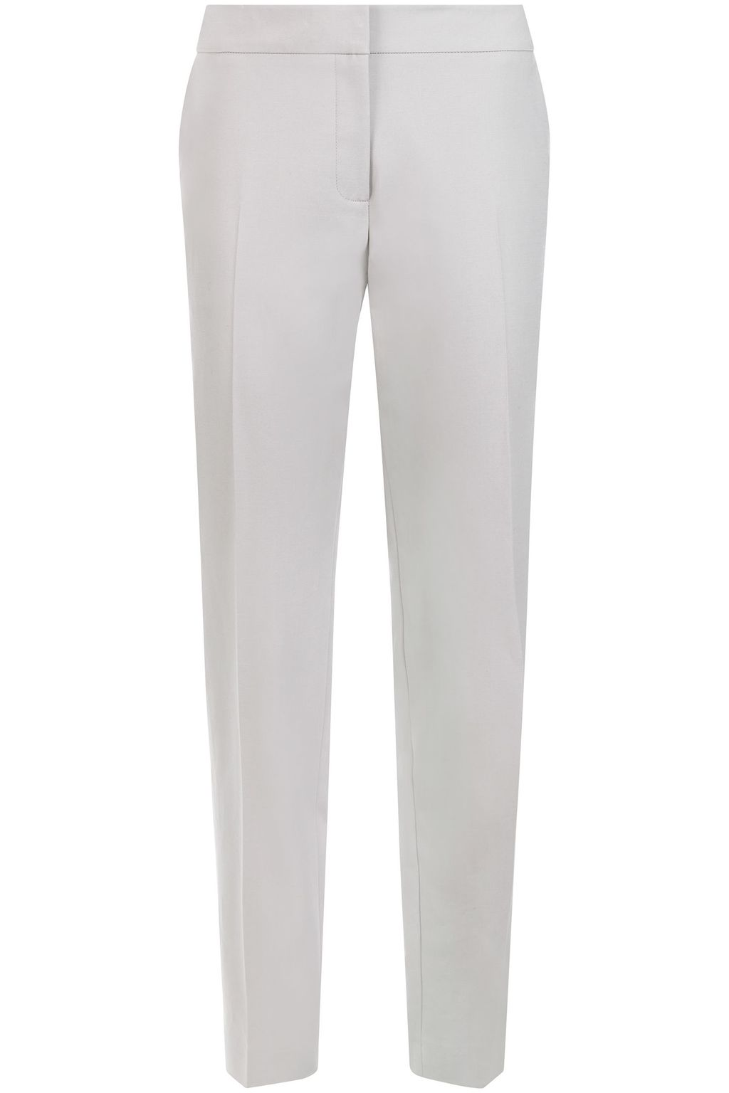 Hoffman Trouser, Grey - length: standard; pattern: plain; waist: mid/regular rise; predominant colour: light grey; occasions: work, creative work; fibres: cotton - stretch; fit: straight leg; pattern type: fabric; texture group: woven light midweight; style: standard; season: s/s 2016
