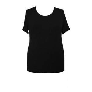 Modal Jersey Round Neck T Shirt - pattern: plain; style: t-shirt; predominant colour: black; occasions: casual; length: standard; fibres: viscose/rayon - stretch; fit: body skimming; neckline: crew; sleeve length: short sleeve; sleeve style: standard; pattern type: fabric; texture group: jersey - stretchy/drapey; season: s/s 2016; wardrobe: basic