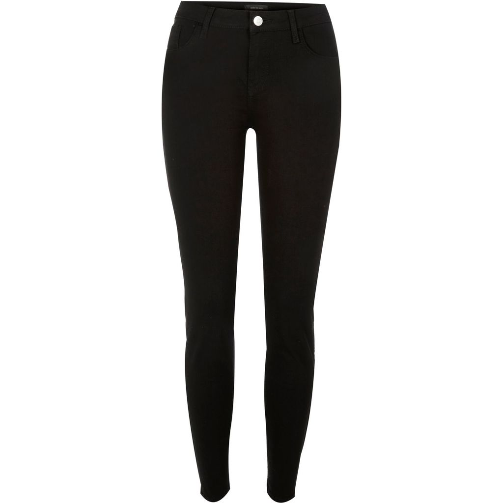 Womens Black Amelie Super Skinny Jeans - style: skinny leg; length: standard; pattern: plain; waist: high rise; pocket detail: traditional 5 pocket; predominant colour: black; occasions: casual; fibres: cotton - stretch; texture group: denim; pattern type: fabric; season: s/s 2016; wardrobe: basic