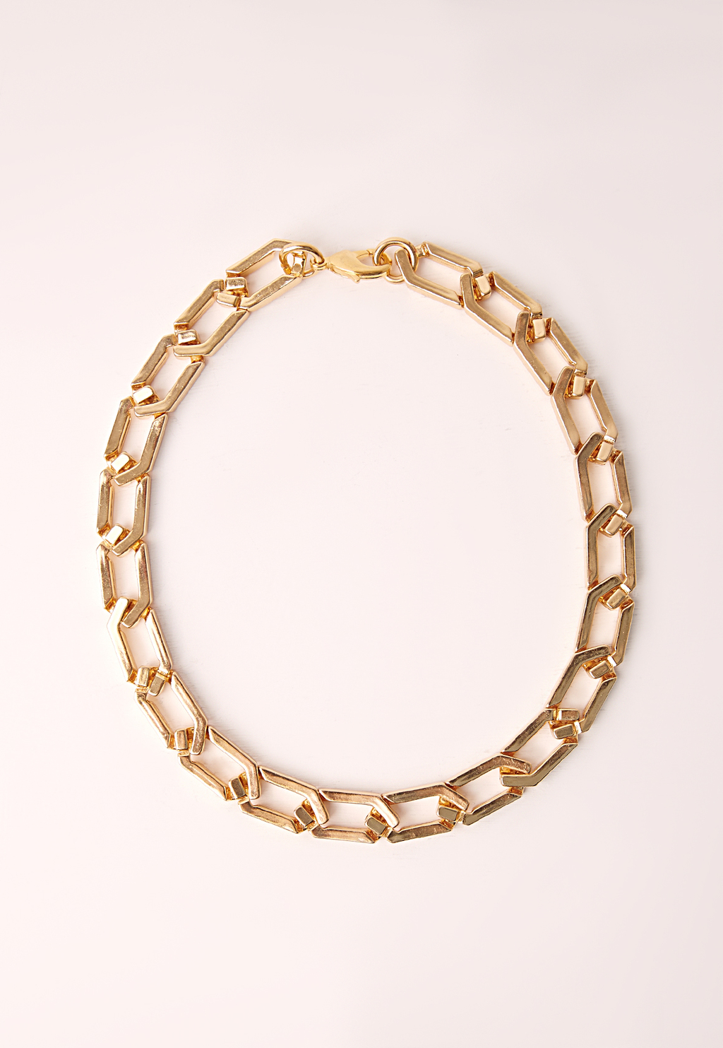 Chain Necklace Gold, Gold - predominant colour: gold; occasions: evening; length: short; size: standard; material: chain/metal; finish: metallic; season: s/s 2016; style: chain (no pendant); wardrobe: event