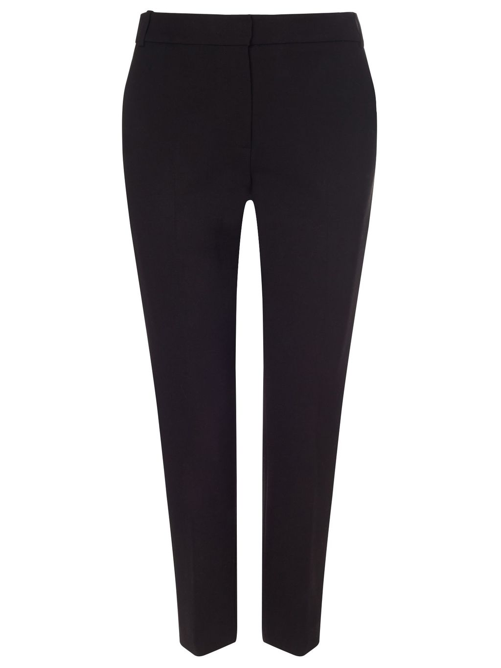 J Banks Thick Jersey Trouser, Black - length: standard; pattern: plain; waist: mid/regular rise; predominant colour: black; occasions: work; fit: slim leg; pattern type: fabric; texture group: jersey - stretchy/drapey; style: standard; fibres: viscose/rayon - mix; season: s/s 2016; wardrobe: basic