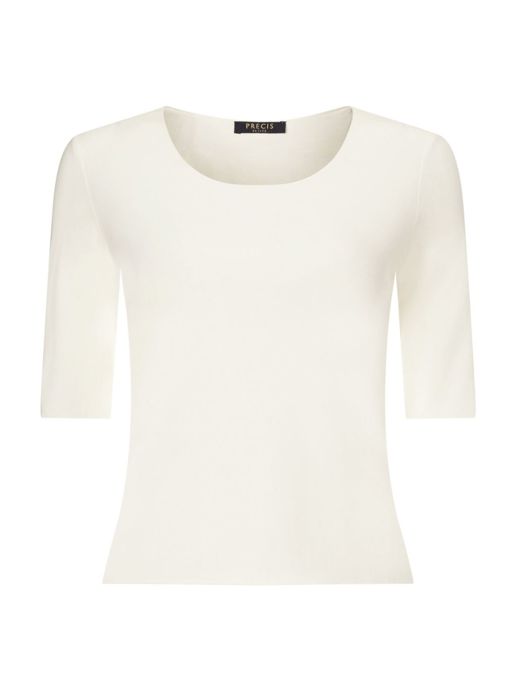 Jeff Banks Ivory Jersey Top, Neutral - pattern: plain; style: t-shirt; predominant colour: ivory/cream; occasions: casual; length: standard; fibres: cotton - stretch; fit: body skimming; neckline: crew; sleeve length: half sleeve; sleeve style: standard; pattern type: fabric; texture group: jersey - stretchy/drapey; season: s/s 2016; wardrobe: basic