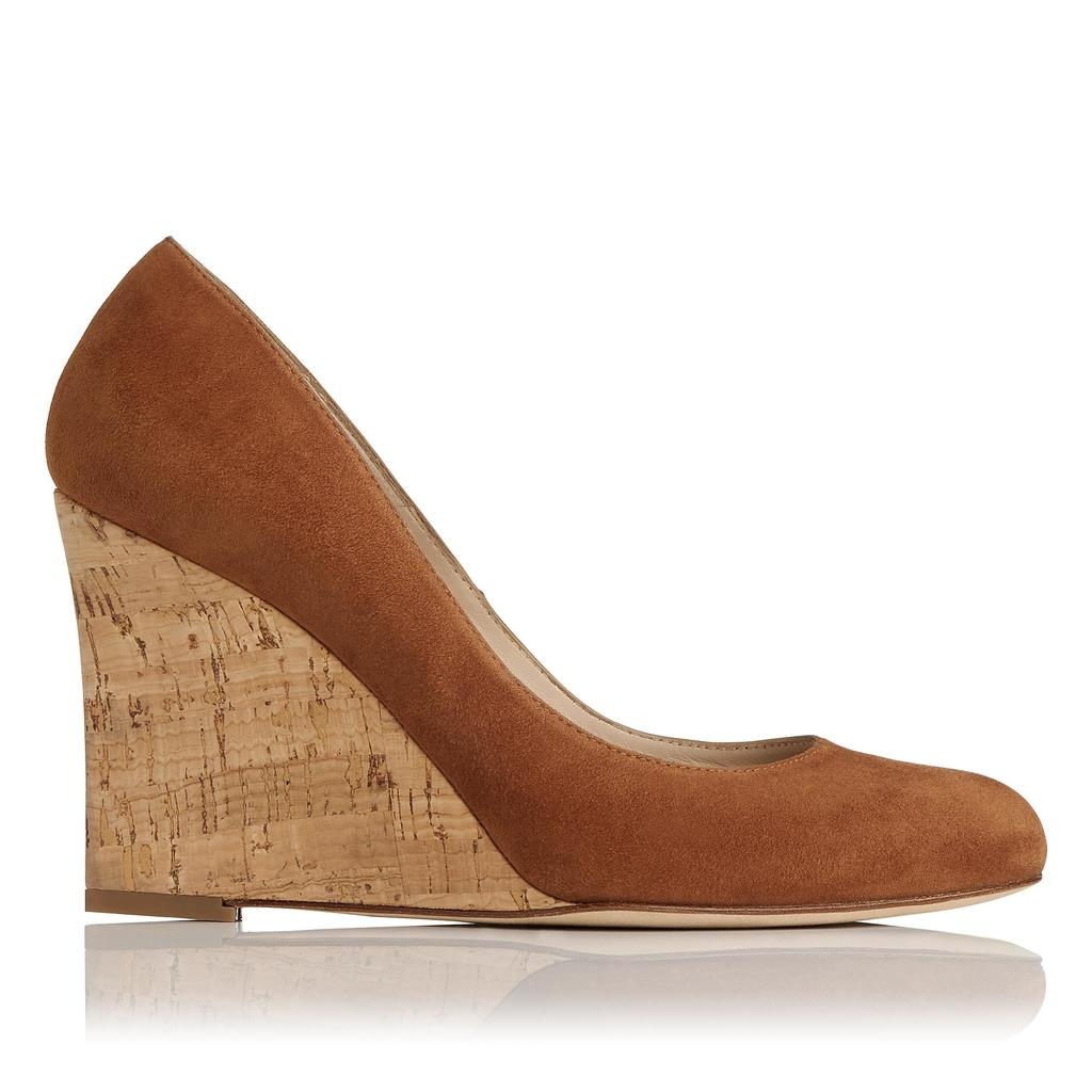 Eirene Tan Suede Wedges Brown Tan - predominant colour: tan; material: suede; heel: wedge; toe: round toe; style: courts; finish: plain; pattern: plain; heel height: very high; occasions: creative work; season: s/s 2016