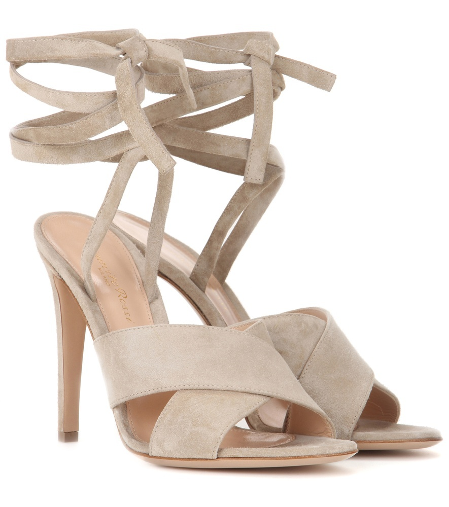 Crissy Suede Sandals - predominant colour: taupe; occasions: evening, occasion; material: suede; heel height: high; ankle detail: ankle tie; heel: stiletto; toe: open toe/peeptoe; style: strappy; finish: plain; pattern: plain; season: s/s 2016; wardrobe: event
