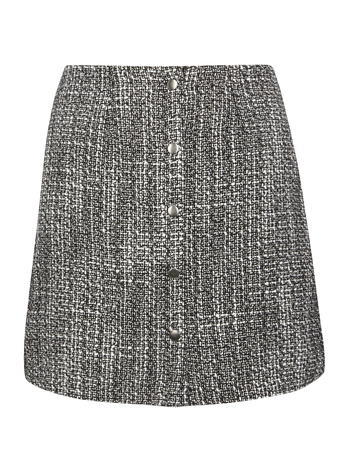 Womens **Vero Moda Tweed Mini Skirt Multi Colour - length: mini; fit: loose/voluminous; pattern: herringbone/tweed; waist: mid/regular rise; secondary colour: light grey; predominant colour: black; occasions: casual, creative work; style: mini skirt; fibres: viscose/rayon - 100%; pattern type: fabric; texture group: tweed - light/midweight; pattern size: standard (bottom); season: s/s 2016; wardrobe: highlight