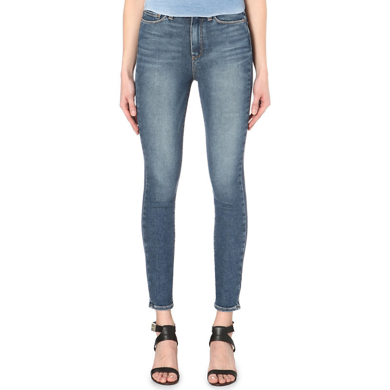 Margot Skinny High Rise Jeans, Women's, Tay - style: skinny leg; length: standard; pattern: plain; pocket detail: traditional 5 pocket; waist: mid/regular rise; predominant colour: denim; occasions: casual; fibres: cotton - stretch; jeans detail: whiskering, washed/faded; texture group: denim; pattern type: fabric; season: s/s 2016; wardrobe: basic