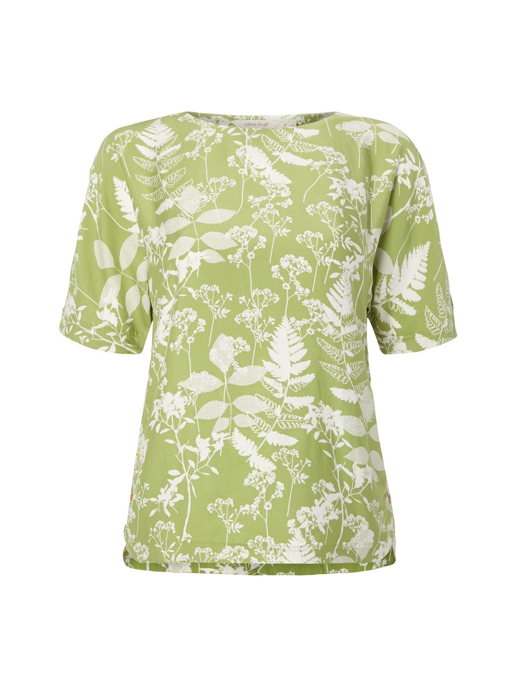 Chive Top, Green - neckline: round neck; predominant colour: lime; occasions: casual; length: standard; style: top; fit: body skimming; sleeve length: short sleeve; sleeve style: standard; pattern type: fabric; pattern: florals; texture group: jersey - stretchy/drapey; fibres: viscose/rayon - mix; pattern size: big & busy (top); season: s/s 2016; wardrobe: highlight