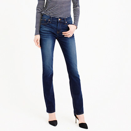 Matchstick Jean In Stanton Wash - style: skinny leg; length: standard; pattern: plain; pocket detail: traditional 5 pocket; waist: mid/regular rise; predominant colour: navy; occasions: casual; fibres: cotton - stretch; jeans detail: shading down centre of thigh, dark wash; texture group: denim; pattern type: fabric; season: s/s 2016; wardrobe: basic
