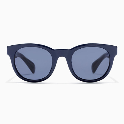 Sam Sunglasses - predominant colour: navy; occasions: casual, holiday; style: round; size: standard; material: plastic/rubber; pattern: plain; finish: plain; season: s/s 2016