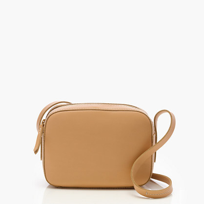 Marlo Crossbody Bag - predominant colour: camel; occasions: casual, creative work; type of pattern: standard; style: messenger; length: across body/long; size: small; material: leather; pattern: plain; finish: plain; season: s/s 2016; wardrobe: basic