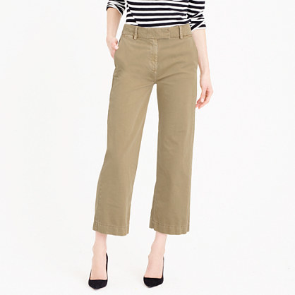 Petite Rayner Chino - pattern: plain; waist: high rise; predominant colour: taupe; occasions: casual, creative work; length: calf length; style: chino; fibres: cotton - 100%; texture group: cotton feel fabrics; fit: straight leg; pattern type: fabric; season: s/s 2016; wardrobe: basic