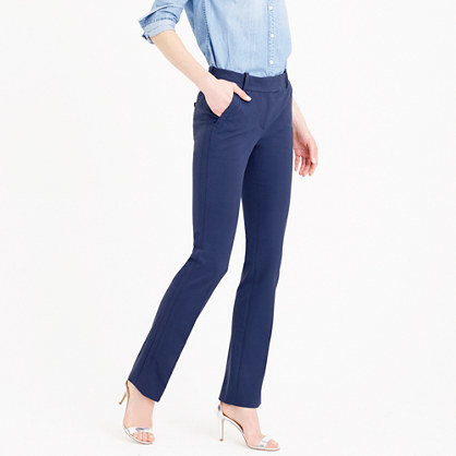 Petite Campbell Trouser In Bi Stretch Cotton - length: standard; pattern: plain; waist: mid/regular rise; predominant colour: royal blue; occasions: work, creative work; fibres: cotton - stretch; fit: straight leg; pattern type: fabric; texture group: other - light to midweight; style: standard; season: s/s 2016; wardrobe: highlight