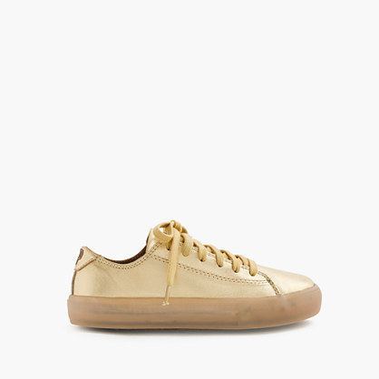 Kids' Pop Shoes™ Leather Sneakers With Light Up Soles - predominant colour: nude; occasions: casual; material: leather; heel height: flat; toe: round toe; style: trainers; finish: plain; pattern: plain; season: s/s 2016; wardrobe: basic