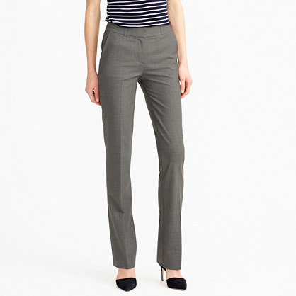 Lined Campbell Trouser In Italian Stretch Wool - length: standard; pattern: plain; waist: high rise; predominant colour: mid grey; occasions: work; fibres: wool - 100%; fit: straight leg; pattern type: fabric; texture group: woven light midweight; style: standard; season: s/s 2016; wardrobe: basic