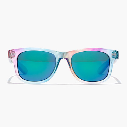 Kids' Iridescent Sunnies - predominant colour: turquoise; occasions: casual, holiday; style: square; size: standard; material: plastic/rubber; pattern: plain; finish: plain; multicoloured: multicoloured; season: s/s 2016