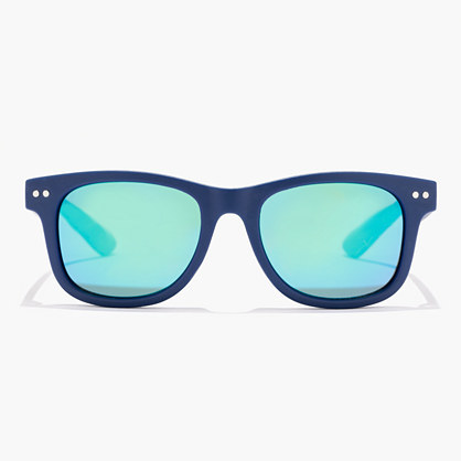 Kids' Sunnies - predominant colour: navy; occasions: casual, holiday; style: square; size: standard; material: plastic/rubber; pattern: plain; finish: plain; season: s/s 2016; wardrobe: basic