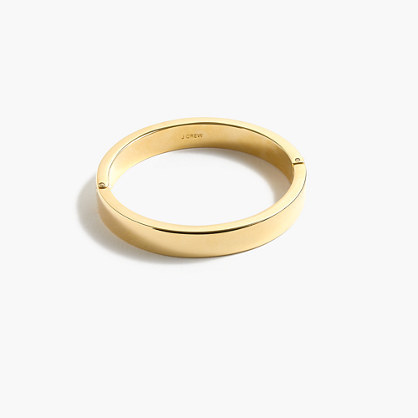 Gold Plated Hinge Bracelet - predominant colour: gold; occasions: evening, occasion, creative work; style: bangle/standard; size: standard; material: chain/metal; finish: metallic; season: s/s 2016; wardrobe: basic