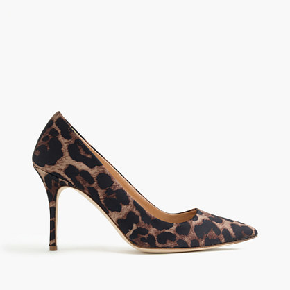 Elsie Leopard Pumps - secondary colour: chocolate brown; predominant colour: camel; material: leather; heel height: high; heel: stiletto; toe: pointed toe; style: courts; finish: plain; pattern: animal print; occasions: creative work; season: s/s 2016; wardrobe: highlight
