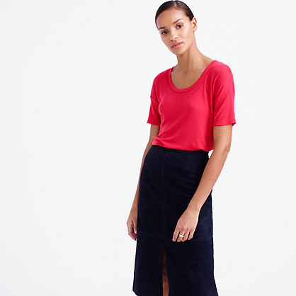 10 Percent T Shirt - pattern: plain; style: t-shirt; predominant colour: hot pink; occasions: casual; length: standard; neckline: scoop; fibres: cotton - stretch; fit: body skimming; sleeve length: half sleeve; sleeve style: standard; pattern type: fabric; texture group: jersey - stretchy/drapey; season: s/s 2016; wardrobe: highlight