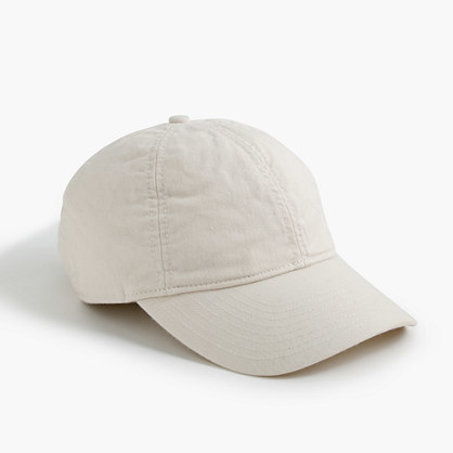 Solid Cotton Baseball Cap - predominant colour: stone; occasions: casual; type of pattern: standard; style: cap; size: small; material: fabric; pattern: plain; season: s/s 2016; wardrobe: basic