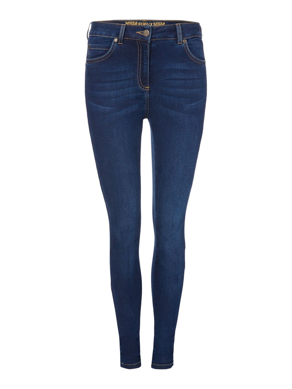 Stevie Blue Wash Super Stretch Skinny Jean, Blue - style: skinny leg; pattern: plain; waist: low rise; predominant colour: navy; occasions: casual, creative work; length: ankle length; fibres: cotton - mix; jeans detail: dark wash; texture group: denim; pattern type: fabric; season: s/s 2016; wardrobe: basic