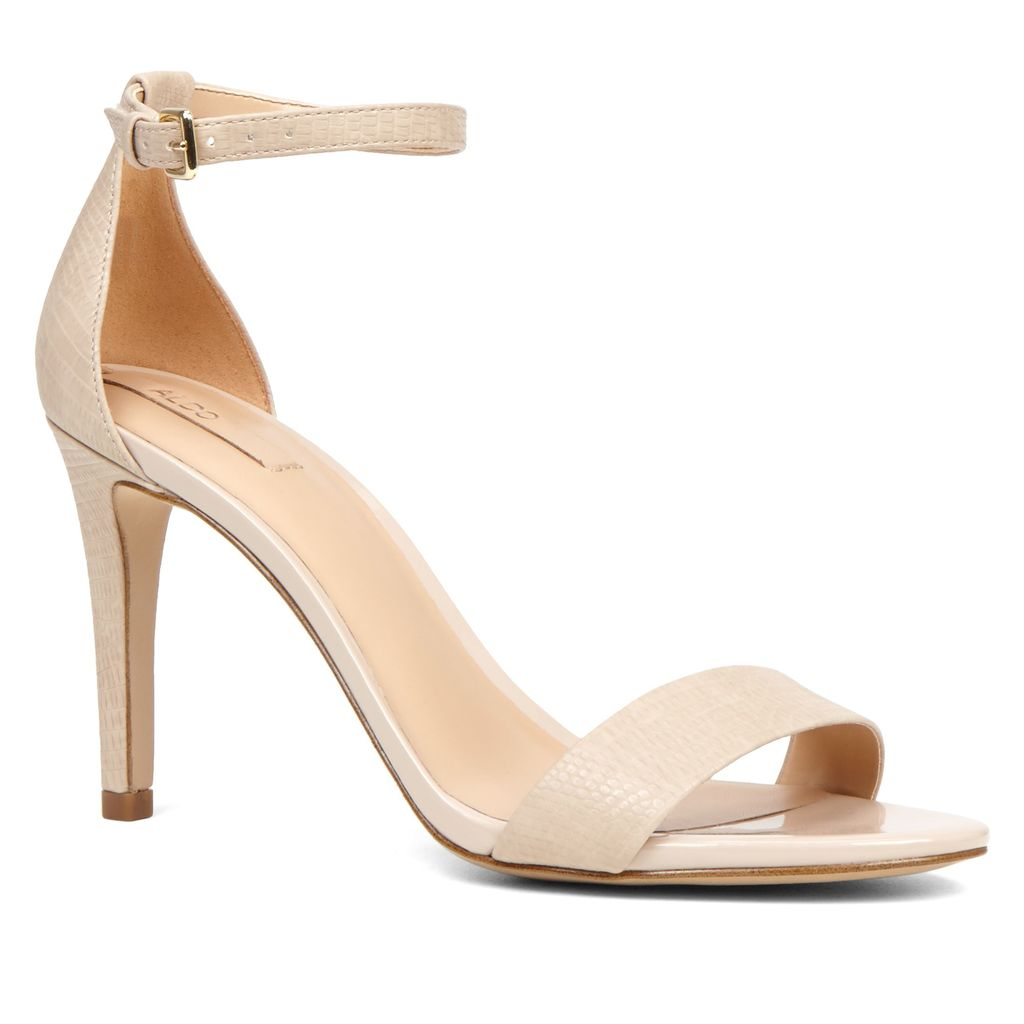 Cardross Strappie Stiletto Sandals, Bone - predominant colour: nude; occasions: evening, occasion; material: leather; heel height: high; ankle detail: ankle strap; heel: stiletto; toe: toe thongs; style: strappy; finish: plain; pattern: colourblock; season: s/s 2016; wardrobe: event