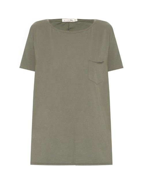 X Boyfriend T Shirt - neckline: round neck; pattern: plain; length: below the bottom; style: t-shirt; predominant colour: khaki; occasions: casual, creative work; fibres: cotton - 100%; fit: straight cut; sleeve length: short sleeve; sleeve style: standard; pattern type: fabric; texture group: jersey - stretchy/drapey; season: s/s 2016; wardrobe: basic