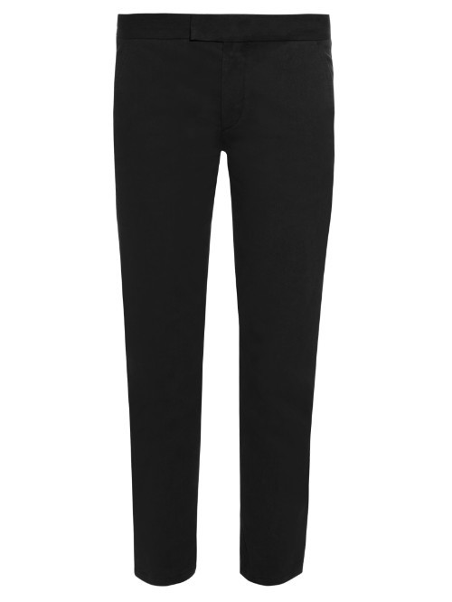 Ornela Twill Trousers - pattern: plain; waist: mid/regular rise; predominant colour: black; length: ankle length; fibres: polyester/polyamide - 100%; fit: slim leg; pattern type: fabric; texture group: other - light to midweight; style: standard; occasions: creative work; season: s/s 2016; wardrobe: basic